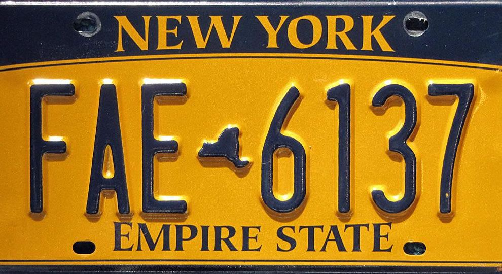 New York Special License Plates Laws - New York Car Laws